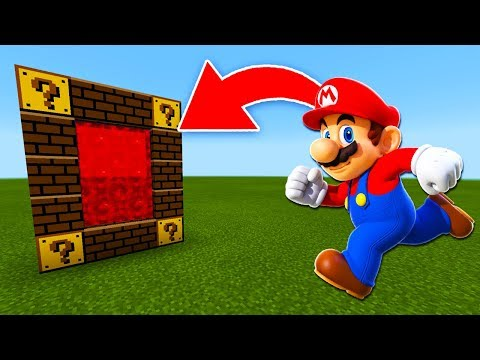 How to Make a Portal to the Mario Dimension in Minecraft PE