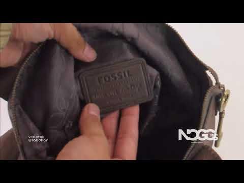 RT46-495 Fossil Vintage 1954 - Ethnic Studded Foldover Handbag & Crossbodybag