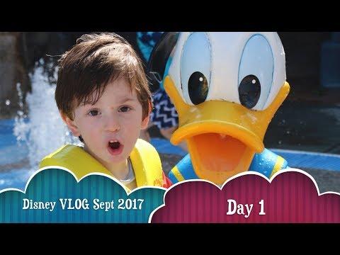 Disney Family Vacation 2017 - Day 1 | Saratoga Springs Resort | Turf Club | Artist's Palette | Pools