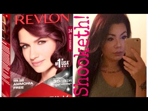 Revlon ColorSilk Hair Dye REVIEW + DEMO   Deep Burgundy   Tips on how to make your Color Last!