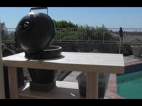 Build a Big Green Egg Table Nest 100 bucks - My New Green Egg