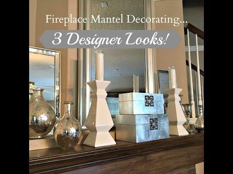 Interior Design:  Fireplace Mantel Decorating...3 Designer Looks