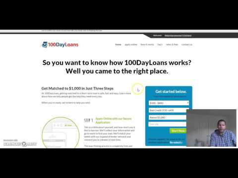 100 Day Payday Loan Review   No credit check