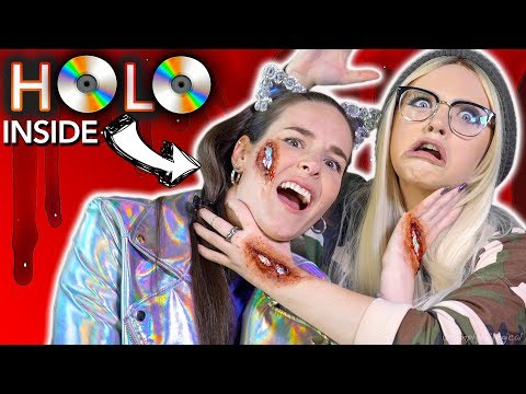 I'M HOLO INSIDE! Holographic scar makeup ft. Glam&Gore