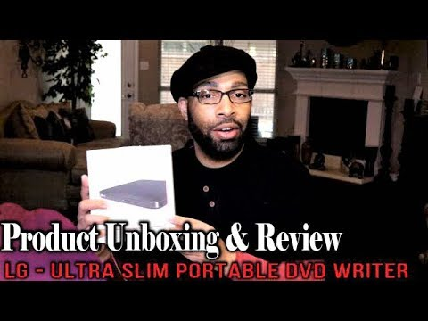 LG  Ultra Slim Portable DVD Writer UnBoxing & Review
