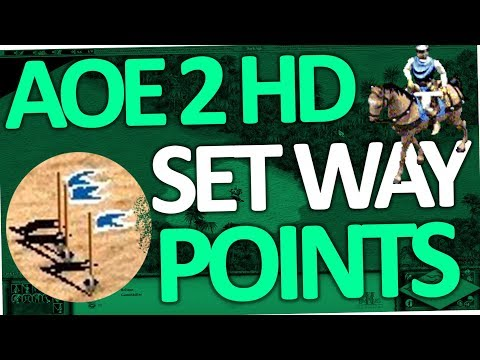 Age of Empires 2 - How to set Waypoints (AoE II HD)