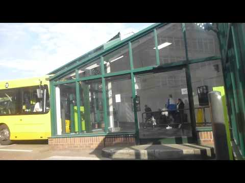 Victoria Bus Station in Nottingham   Free Bus   England   October 2014