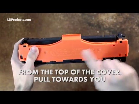 How to Remove Covers and Tabs Before Installing a Toner Cartridge