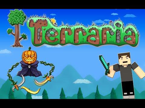 Terraria 1.2.4.1 - Speed Solo Event - Pumpkin Moon - Melee