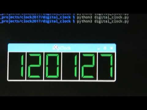 digital clock using tkinter python 3