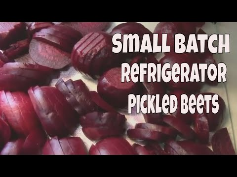 Small Batch Refrigerator Pickled Beets Recipe. Makes One Quart.