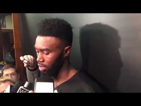 Emotional Jaylen Brown on playing after the death of his best friend