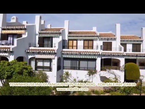 Ref: CR838 - TOWNHOUSE IN LOS ANGIUS IV IN CABO ROIG BEACHSIDE FOR SALE