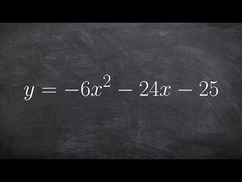 How to math transfer and equation from standard form to vertex form