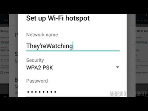 change any android hotspot name and password