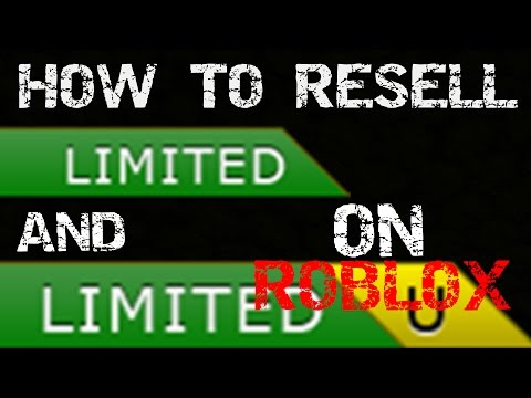 How To Resell Items On Roblox