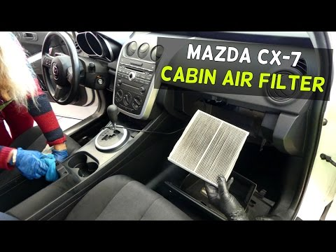 MAZDA CX-7 CABIN AIR FILTER REPLACEMENT REMOVAL CX7