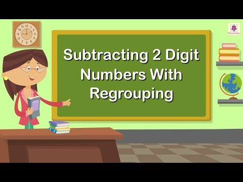 Subtracting 2 Digit Numbers With Regrouping | Grade 1 Maths For Kids | Periwinkle