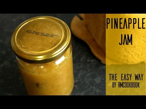 DIY Homemade zero preservative easy pineapple jam