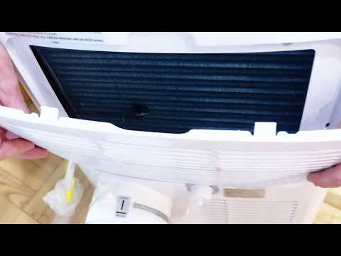 How to clean the filter in  Frigidair  air conditioner