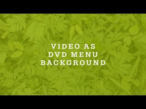 How To Make Video As DVD Menu Background In DVDStyler