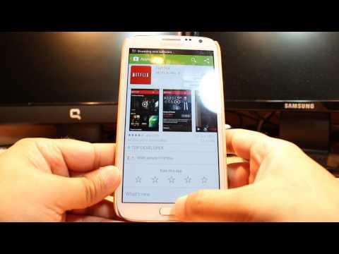 Netflix install to Samsung Galaxy Note 2