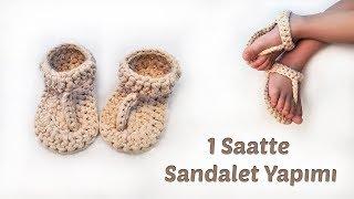 Örgü bebek sandalet yapımı #bebekpatikmodelleri #patikmodelleri ... | 180x320