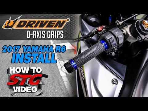 Driven D-Axis Grips Install on a 2017 Yamaha R6 | Sportbiketrackgear.com