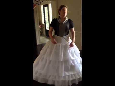 How to Sit in a Hoop Skirt