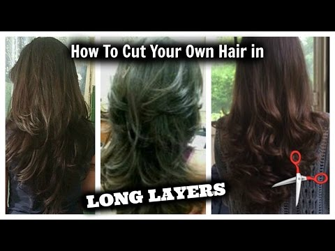 How I Cut My Hair in Layers ... at HOME!! │ Long Layered Hair Cut DIY