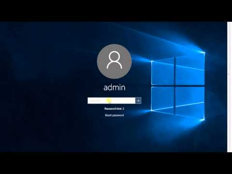 How to bypass lost forgotten admin password in Windows 10 or 8