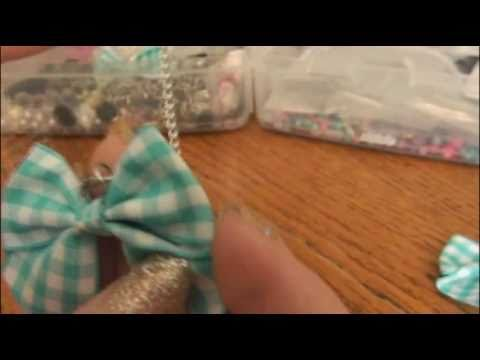 DIY: Bow Necklace. | BOW CRAFTS! by SoCraftastic