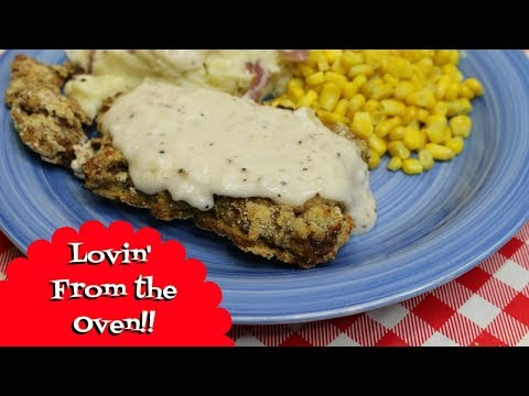 Oven Baked Chicken Fried Steak ~ Chicken Fried Steak ~  Country Fried Steak ~ Noreen's Kitchen
