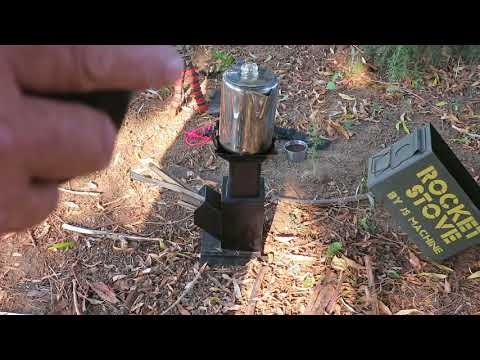 Best Coffee Camping with a rocket stove