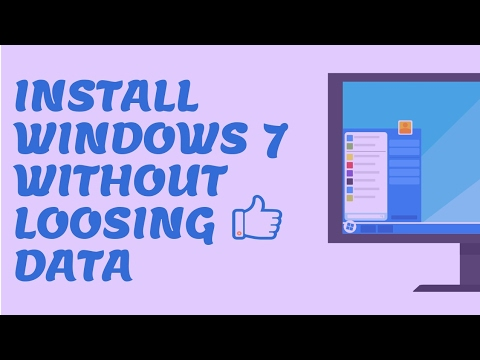 How to Install Windows 7 On a Computer or Laptop Without loosing any Data