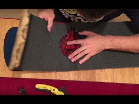 How to grip a Steve Caballero skateboard and cut out the top image