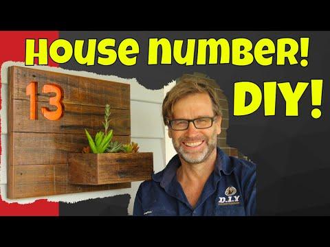 House Number Sign. DIY 30 Minute Challenge!