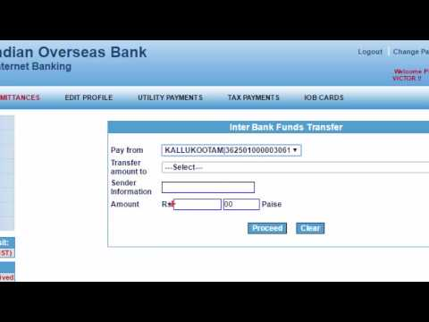 How to use Fund Transfer Facility in IOB Internet Banking -Tamil Banking