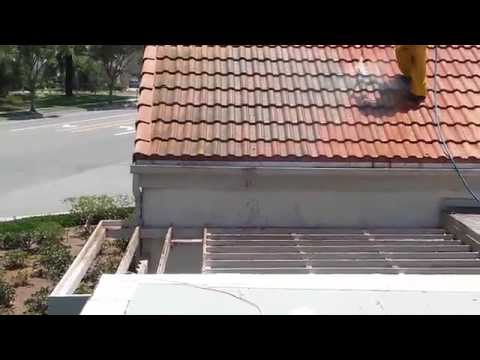 How to power wash your tile roof.