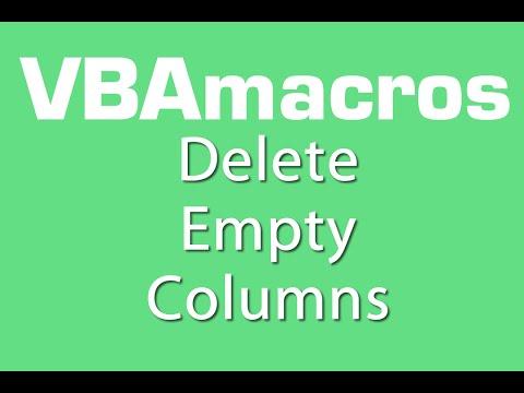 Delete Empty Columns - VBA Macros - Tutorial - MS Excel 2007, 2010, 2013