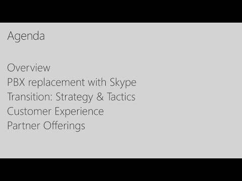 Migrating from your Avaya PBX to Skype for Business Voice - BRK2002