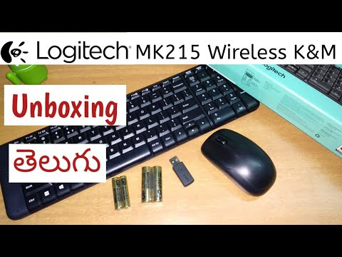 MK215 Wireless Keyboard and Mouse Combo Unboxing |In Telugu|