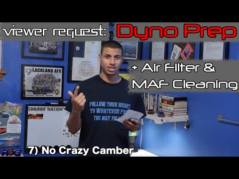 VIEWER REQUEST: Dyno Prep + MAF Sensor & Air Filter Cleaning