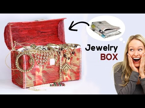 How to Make Jewelry Box: Best Out of Waste Newspaper Craft