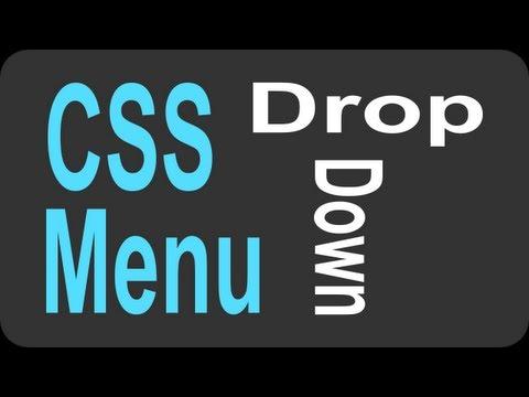 CSS Drop Down Menu Tutorial - 2 of 2