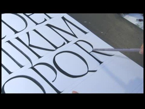 Calligraphy Alphabet N-Z : Calligraphy Tips: Writing Letter R