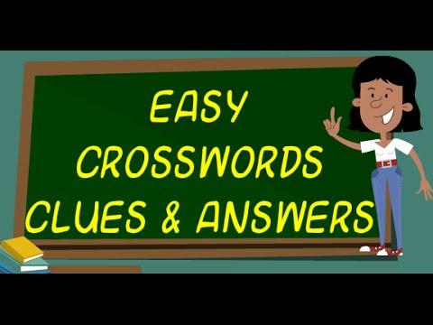 Easy Crossword Clues