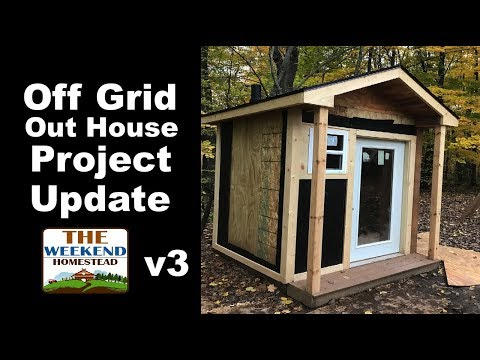 DIY - How to install an Outhouse? Part 3 - Outhouse Structure is UP!