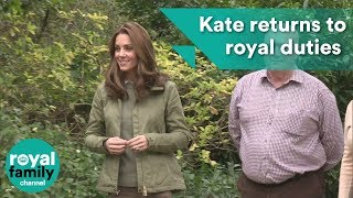 Duchess of Cambridge returns to royal duties after birth of Prince Louis