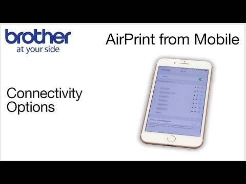 AirPrint Mobile Printing on your Brother printer